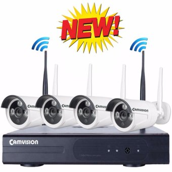 Camvision 4CH 1.3MP Wireless CCTV Kit Price Philippines