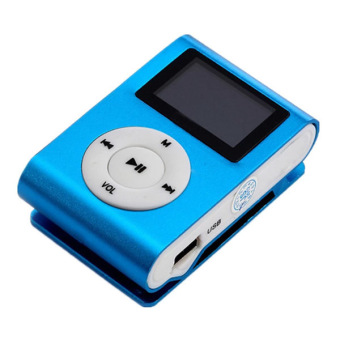 Harga Auxis mp3blue LCD Screen USB Digital MP3 Player (Blue)