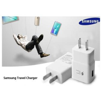 Harga Samsung Travel Wall Charger For Samsung Galaxy S4 S6 J1 J7 J5 A8 A7 A5 A3 E7 with USB 3.0 Cable