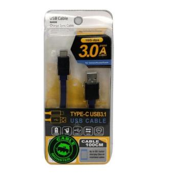 Harga Cable Monster B150 - Type C Micro Cable Metal SRS 3.1 A 1M (Blk/Blu)