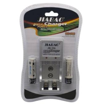 Harga Jiabao JB-226 Battery Charger with 2-piece 600 mAh AA Rechargeable Battery