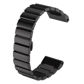 Stainless Steel Replacement Wrist Watch Band Strap with Fold-over Clasp for Garmin Fenix 3 Black - intl Price Philippines