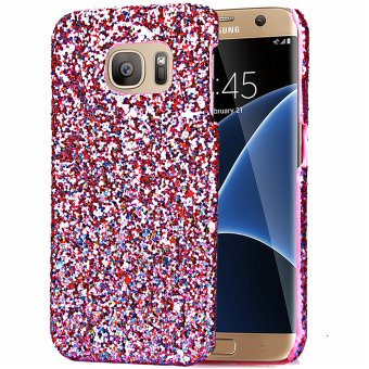 Moonmini Bling Shiny PC Back Case Cover for Samsung Galaxy S7 Edge (Pink) Price Philippines