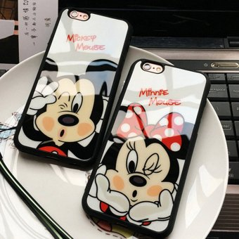 Fashion Cartoon Lovers Mickey Mouse Minnie cover soft TPU silicon case For iPhone 7 plus funda Coque cases - intl Price Philippines