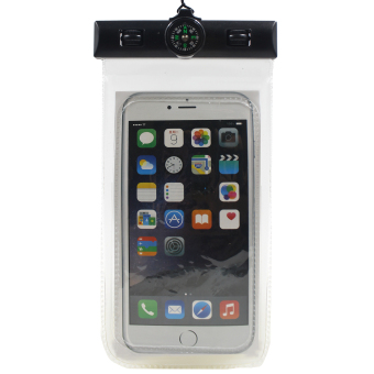 Great Deals Water Proof Case with Compass for Mobile Phone (Clear) Price Philippines