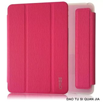 Harga ICASE Auto Sleep / Wake Leather/TPU Flip Cover Case for Samsung Galaxy Tab 3 V / T113 (Pink)