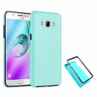 Harga Full Cover 360 Shockproof Case for Samsung Galaxy J7 2015 - MintGreen
