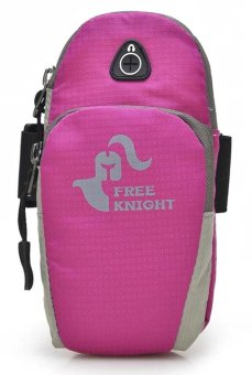 Free Knight Oxford Nylon Class A 6.2 inch Sports Running JoggingGym Armband Holder Bag for Mobile Phones (Hotpink) Price Philippines