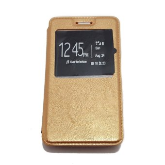 Harga Leather Flip Cover for Huawei Honor 4C (Gold)