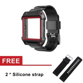 Silicone Resilient Protective Case with Strap for Fitbit Blaze Activity Tracker SmartWatch - intl Price Philippines