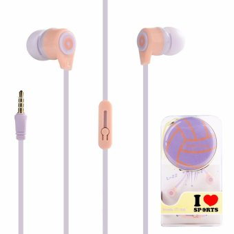 Lovely Me Sports L-22 In-Ear Headphone Mic with Earphone Pouch (Purple) Price Philippines