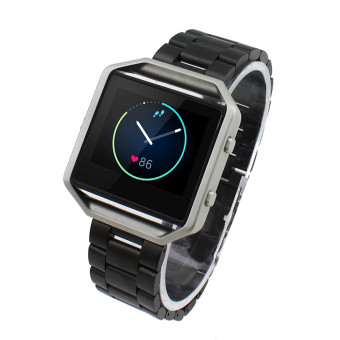 Stainless Steel Watchband Sport Wrist Band Strap For Fitbit Blaze (Black) Price Philippines