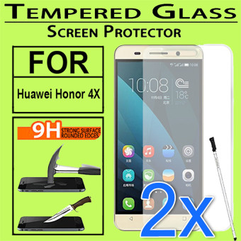 Harga 2x Tempered Glass Screen Protector For Huawei Honor 4X - Intl