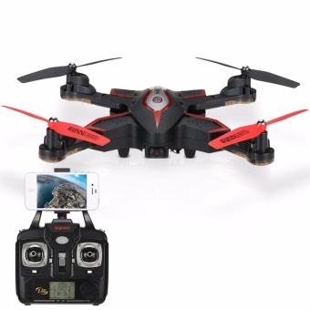 Harga Syma X56W Wi-Fi FPV G-sensor Foldable Drone 2.4G 4CH 6-axis Gyro RC Quad copter RTF with Altitude Hold Headless Mode Track-controlled Mode (Black)