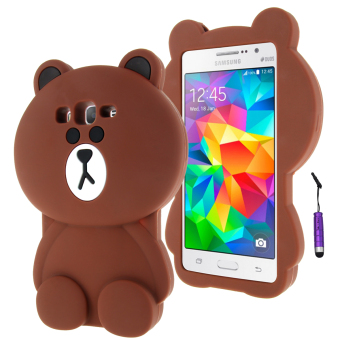 Moonmini 3D Lovely Bear Soft Silicone Back Case for Samsung Galaxy Grand Prime G530 (Brown) Price Philippines