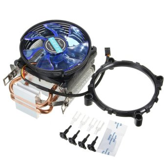 3Pin Copper LED CPU Cooler Fan Heatsink for Intel LGA775/1156/1155 AMD AM2/AM2+ - intl Price Philippines