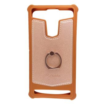 FCH Bumper Silicone Back Cover Case with Ring for LG Magna (Brown) Price Philippines