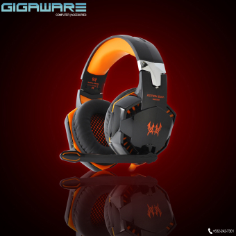 Harga Gigaware Kotion G2000 Gaming LED Headset (Orange)