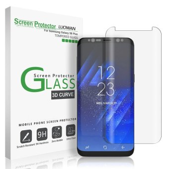 Harga LUOWAN Galaxy S8 Plus Screen Protector,New Curved Full Tempered Glass Screen Protector Film [Non-full screen][Bubble Free ][Scratch Resistant][Easy Installation] For for Samsung Galaxy S8 Plus 6.2 inch(Clear)