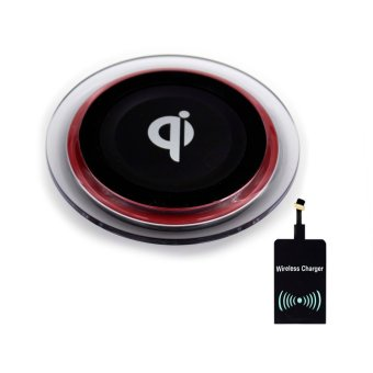 Harga QI Wireless Charger Set for Android (Black)
