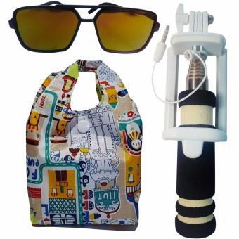 Mini Selfie Stick/Monopod for CloudFone Thrill Lite (Black)with Shopping Bag and Free Unisex Sunglasses Price Philippines