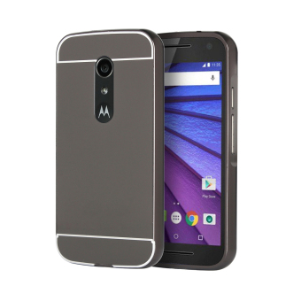 Moonmini Metal + PC Frame Bumper Case for Motorola Moto G2 (Black) - Intl Price Philippines