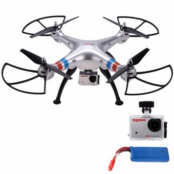 Harga SYMA X8G Headless Mode 2.4G 4.5 Channel Remote Control Quadcopter (Grey) with Syma 2400mAh Li-Po Battery