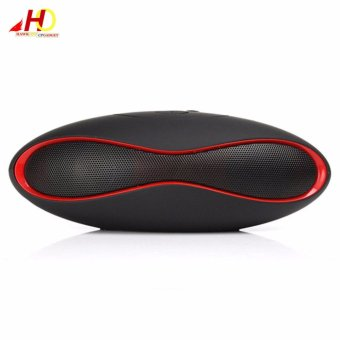 Harga MINI X6U Mini Portable Wireless Bluetooth Speaker (Black/Red)