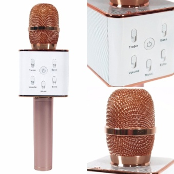 MUGEN Q7 Wireless Bluetooth Microphone & HIFI Speaker 2600mAh (Rose/Gold) Price Philippines