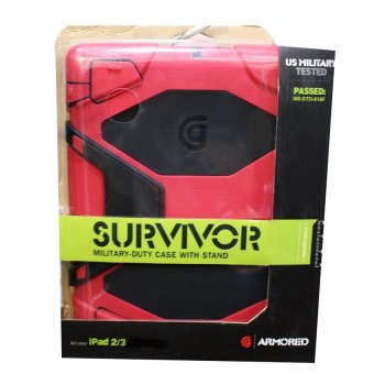 Harga GG Griffin Survivor Military Hard Case for iPad 2/3 (Red)