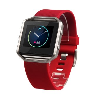 Fitbit Blaze Accessory Band, Classic, Red, Small, Lantoo Silicon Bracelet Strap Replacement Band For Fitbit Blaze Smart Fitness Watch (Classic, Red, Small) Price Philippines