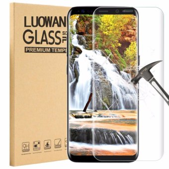 Harga LUOWAN Galaxy S8 Tempered Glass Screen Protector,3D Full Coverage Screen Protector for Samsung Galaxy S8 (Clear)