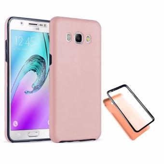Harga Full Cover 360 Shockproof Case for Samsung Galaxy J7 2015 - RoseGold