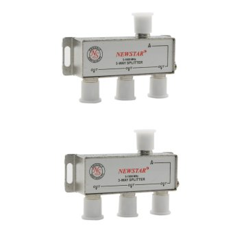 Harga Newstar NTS-913-2 TV Signal Splitter 3 Way 5-1000MHz w/ Connectors Package