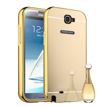 Harga RUILEAN Luxury Metal Aluminum Bumper Hard Back Case for Samsung Galaxy Note 2 N7100 (Gold)
