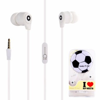 Lovely Me Sports L-22 96dB In-Ear Headphone Mic with Earphone Pouch (White) Price Philippines