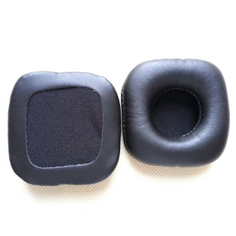 Harga A Pair of Replacement 70x70mm Square Shaped Soft PU Foam Earpads Ear Pads Ear Cushions for Marshall MAJOR Headphones Black