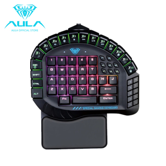 AULA OFFICIAL Master One-hand Gaming Keyboard Removable Hand Rest RGB Backlight Mechanical Keyboard - intl Price Philippines