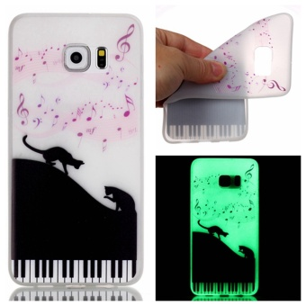 Moonmini Luminous TPU Phone Back Case for Samsung Galaxy S7 Edge - Musical Notes Price Philippines