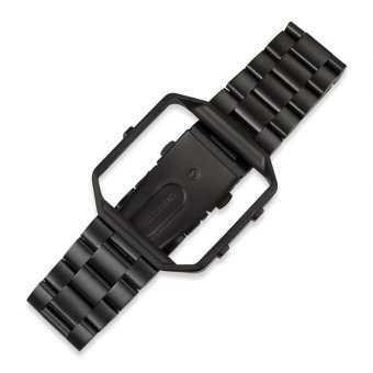 Stainless Steel Replacement Strap + Metal Frame Housing with Removal Tool for Fitbit Blaze(Black) Price Philippines