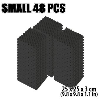 New 48 pcs 25 x 25 x 3 cm Black Egg Crate Acoustic Foam Tile Studio Sound Absorption Treatment Panel KK1052 - intl Price Philippines