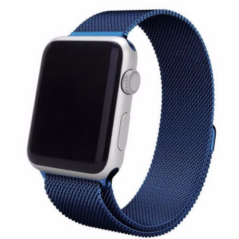 Magnetic Loop Stainless Steel Watch Bands Strap For Apple Watch iWatch 42mm (Blue) Price Philippines