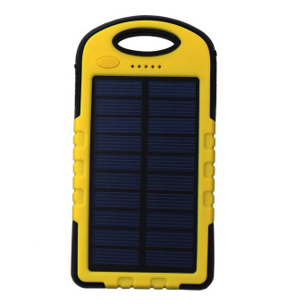 Harga Auxis Solar Charger 108000mAh LED Power Bank with Flashlight (Yellow)