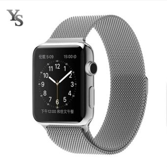 New Milanese Loop Watch Strap For Apple Watch Band 38mm Silver link bracelet Stainless Steel Woven iwatch watchband (Silver) - intl Price Philippines