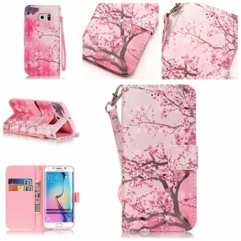 Leather Case Wallet Card Cover for Samsung Galaxy S6 Edge G9250(Sakura) - intl Price Philippines