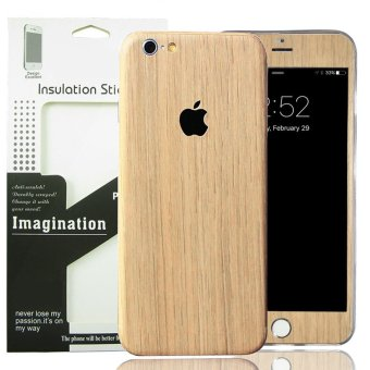 for Apple iPhone 6 6S Wood PVC Full Body Skin Sticke DIY Front Back Cover Film Price Philippines
