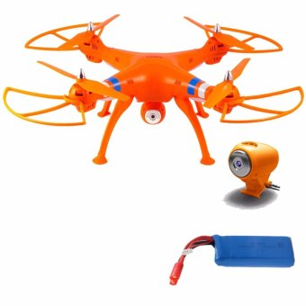 Harga Syma X8C Venture 4 Channel 2.4GHz R/C Quadcopter Drone 2MP Camera (Orange) with Syma 2400mAh Li-Po Battery