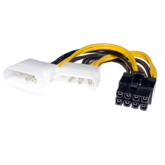 Dual Molex LP4 4 pin to 8 pin PCI-E Express Converter Adapter Power Cable Price Philippines