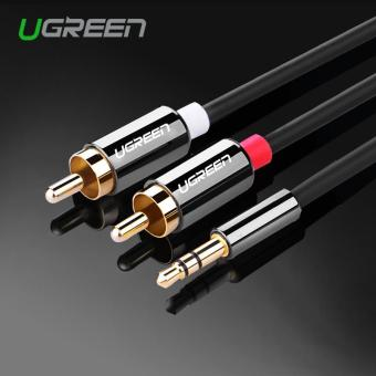 Harga Ugreen 2M rca audio cable 3.5mm jack male to 2 rca male stereo audio 3m 5m aux cable for Edifer Home Theater DVD iPhone Headphones - intl