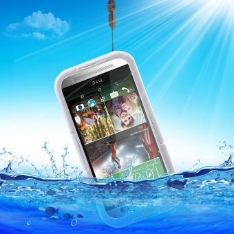 Harga Heavy Duty IP-68 Waterproof Cover for HTC One M9 / M8 / M7 - White - intl